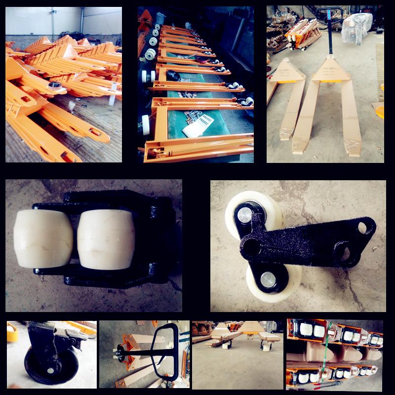 液压手动地牛生产车间展示--河北东圣吊索具制造有限公司--小型搅拌机|石材夹具|手动叉车|液压堆高车
