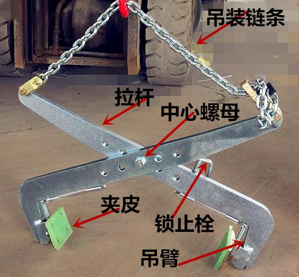石材夹具杠杆原理简图