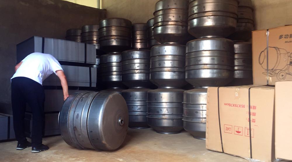 220v搅拌机小型搅拌滚筒半成品车间-河北东圣吊索具制造有限公司