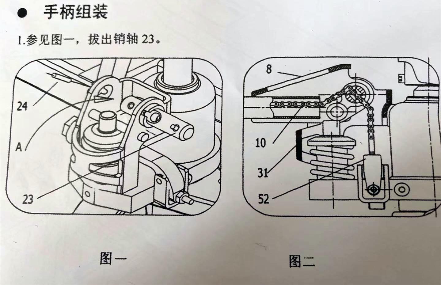 手动叉车手柄安装顺序图--河北东圣吊索具制造有限公司--手动叉车|液压堆高车|石材夹具|小型搅拌机