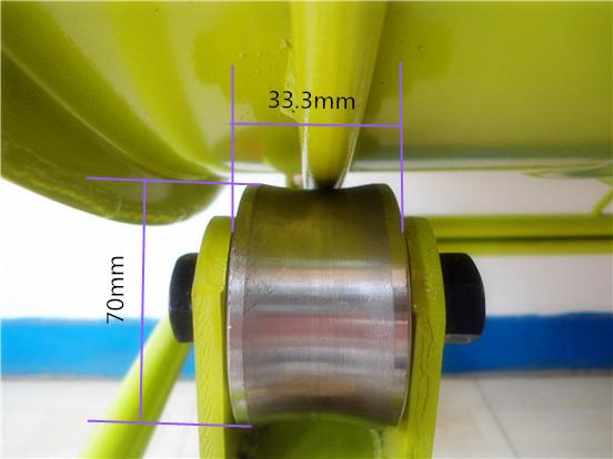 小型建筑搅拌机锰钢支撑轮尺寸标注细节图--河北东圣吊索具制造有限公司--小型搅拌机